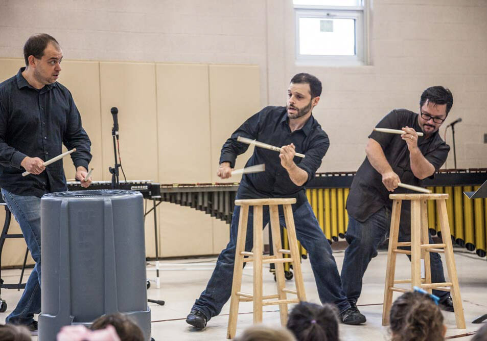 Outreach concerts with the Exit 9 Percussion Group